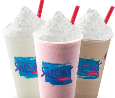 $1 Shakes at Salem's for daily happy hour between 2 and 5 pm